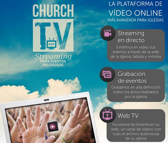 Church TV, la plataforma de vídeo online para iglesias