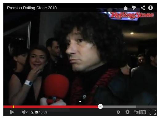 Bunbury en los Rolling Stone 2010