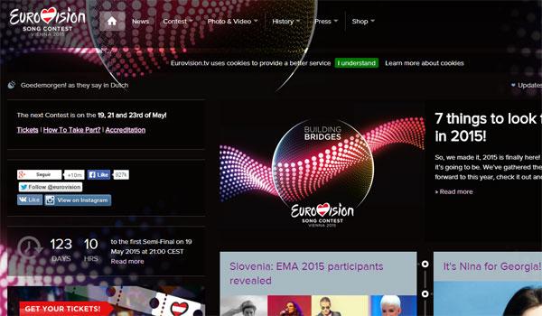 Eurovisión tiene Web Tv