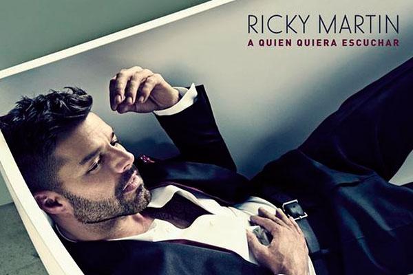 """Imagen del nuevo disco de Ricky Martin , """"A quien quiera escuchar"""""""