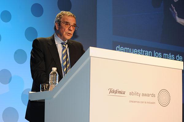 D. César Alierta, Presidente de Telefónica, en la retransmisión de los Telefónica Ability Awards