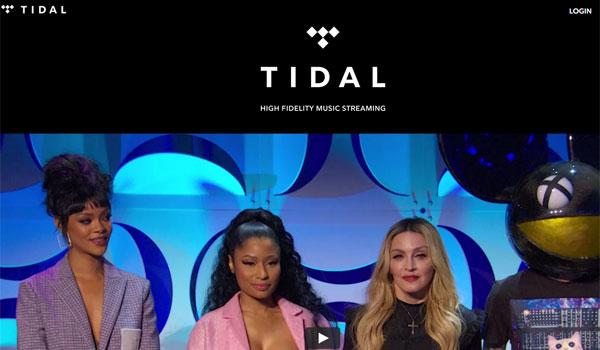 La web de Tidal abre hoy con las imágenes de diversas estrellas