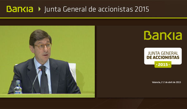 D. José Ignacio Goirigolzarri, Presidente de Bankia